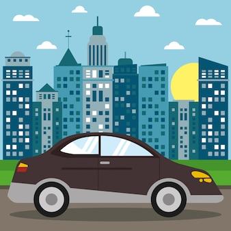 Auto limousine transport stadt sonne