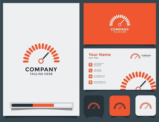 Auto-logo und visitenkarte