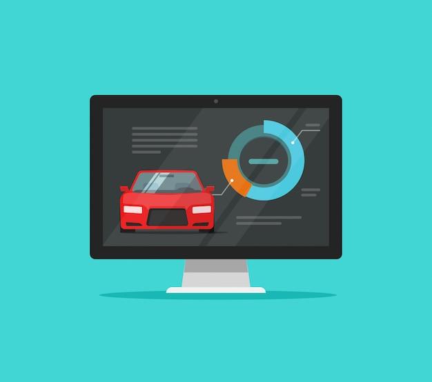 Auto- oder automobildiagnosetest am computer