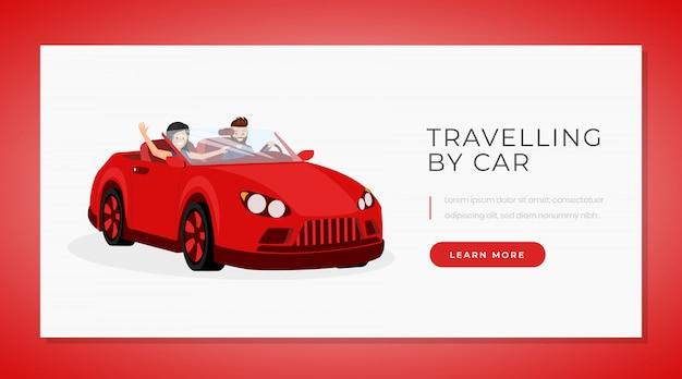 Auto reisen banner vektor vorlage