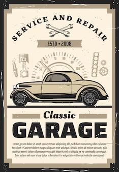 Auto, reparatur ersatzteilschablone