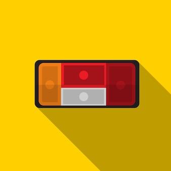 Auto-rücklicht flach symbol illustration isoliert vektor-zeichen-symbol