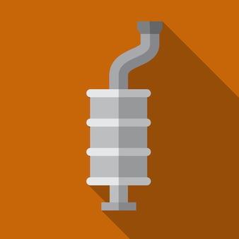 Auto-schalldämpfer flache symbol illustration isoliert vektor-zeichen-symbol