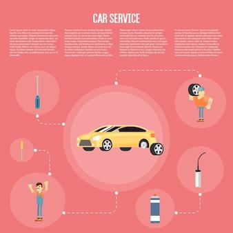 Auto serivce infografiken