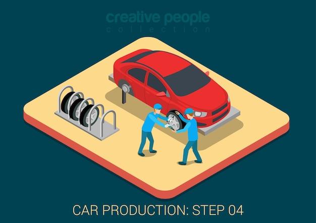 Auto service auto reparatur vorlage konzept wohnung