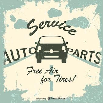 Auto-service-grunge-vektor-logo