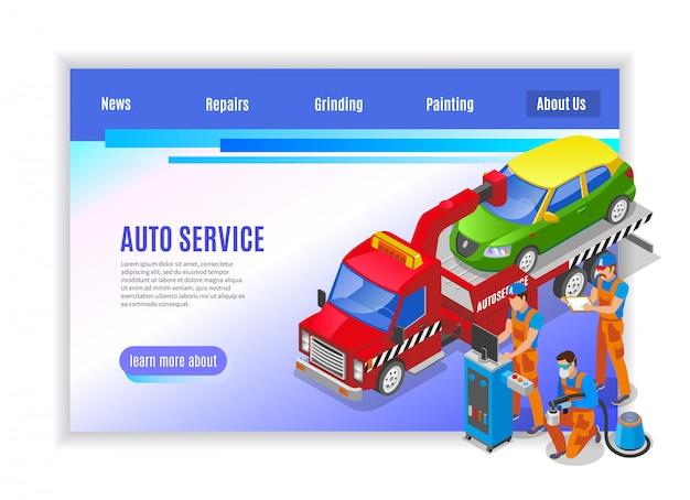 Auto service page design