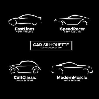 Auto-silhouette-logo-sammlung