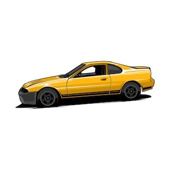 Auto sport gelbes fahrzeug