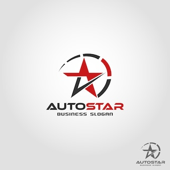 Auto star - auto geschwindigkeit logo vorlage