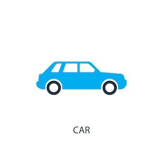 Auto-symbol. logo-element-abbildung. autosymbol-design aus 2-farbiger sammlung. einfaches autokonzept. kann im web und mobil verwendet werden.