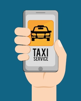 Auto-taxi-symbol. öpnv-design. taxi. flachen stil