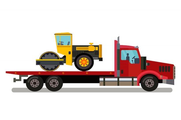 Auto-transport-geschäfts-farbillustration