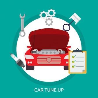 Auto-tune up hintergrund-design