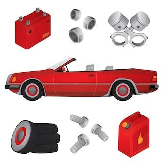 Auto und auto elemente pack