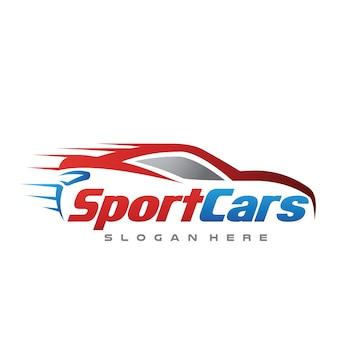Auto und geschwindigkeit automotive logo vector illustration