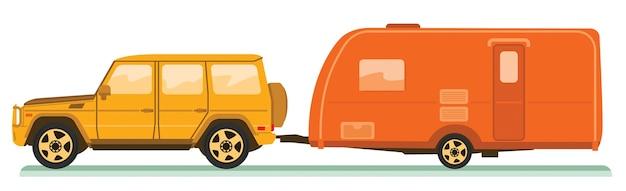 Auto und wohnwagen