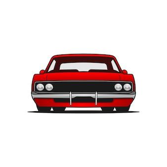 Auto-vektor-vorderansicht
