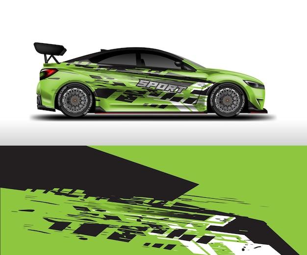 Auto-wrap-aufkleber-design-vektor grafische abstrakte hintergrund-kit-designs für fahrzeug-rennwagen-rallye