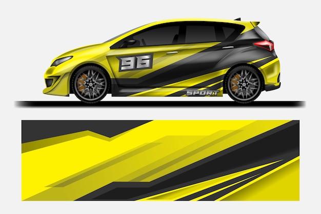 Auto-wrap-aufkleber-design-vektor grafische abstrakte hintergrunddesigns für fahrzeug-rennwagen-rallye