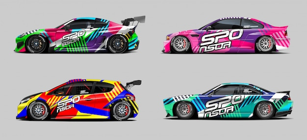 Auto wrap designs konzept