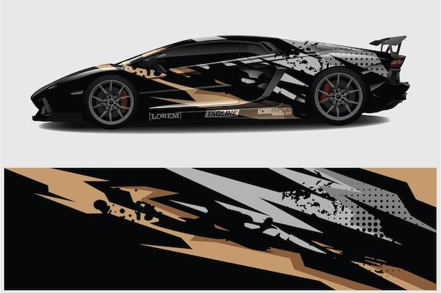 Auto wrap grafik racing abstrakter hintergrund für wrap und vinyl-aufkleber