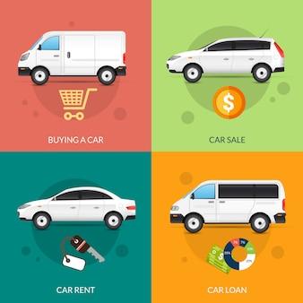 Auto zu vermieten und zu verkaufen