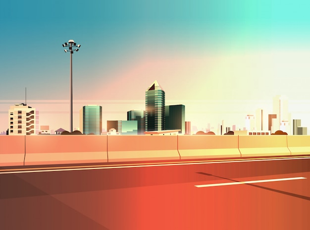 Autobahn asphaltstraße mit häcksler