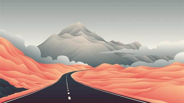 Autobahn straße berg