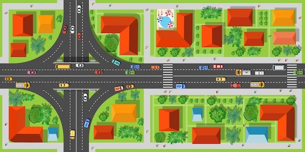 Autobahnkreuzungsstraßen