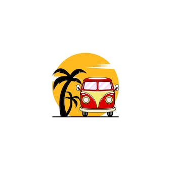 Autobus-sonnenuntergang-logo