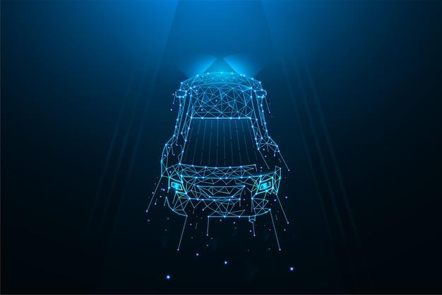 Autofahren auf der straße polygonale illustration