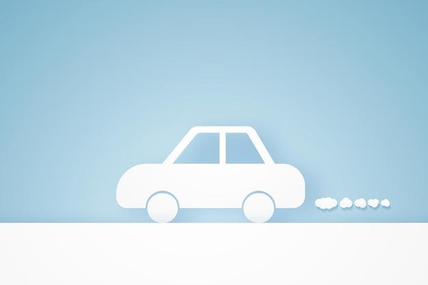 Autofahren im papierkunststil