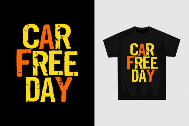 Autofreier tag - grafisches t-shirt