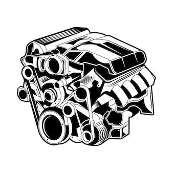 Automaschine-vektorschwarzweiss lokalisiert