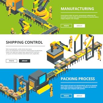Automatisierte industrielinie. herstellung der produktion.