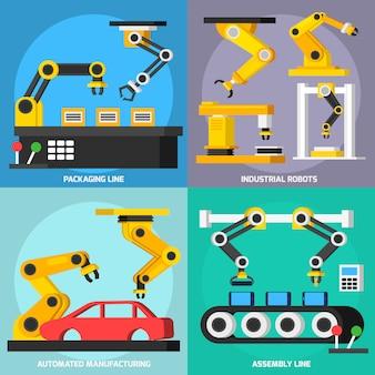 Automatisierungsförderer orthogonale elemente gesetzt