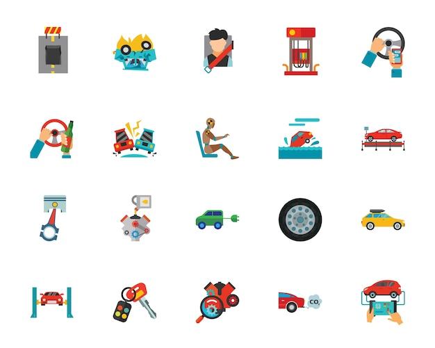 Automobil-icon-set