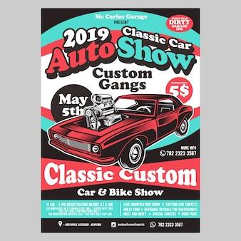 Automobilausstellung flyer vorlage