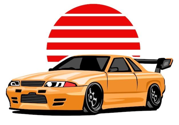 Automobilsportwagenillustration