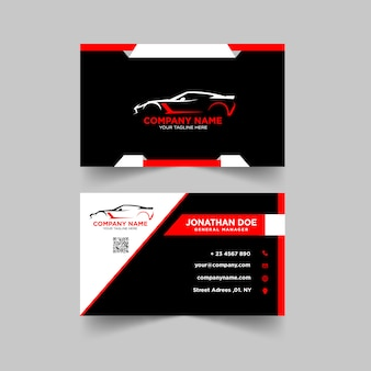 Automotive business card design-vorlage