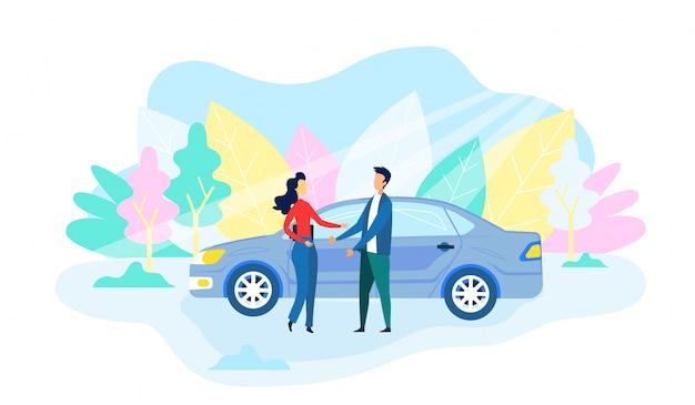 Autonomes auto bringt leute am date in den stadtpark