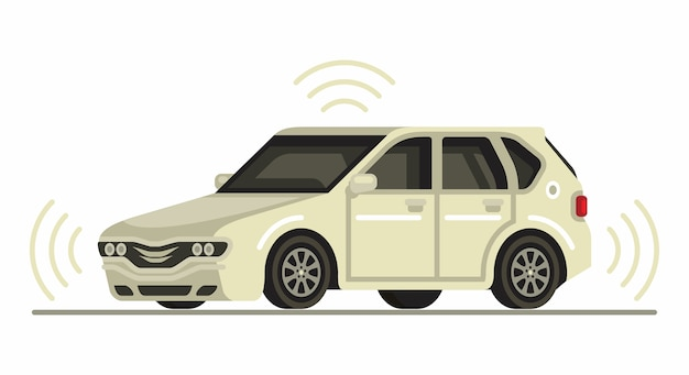 Autonomes selbstfahrendes auto fahrerlos