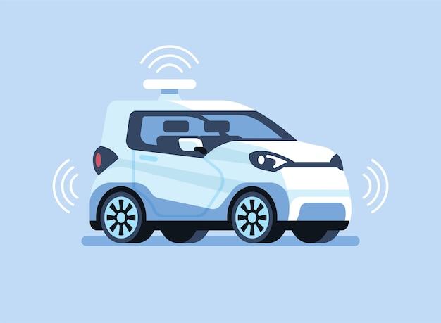 Autonomes selbstfahrendes auto.