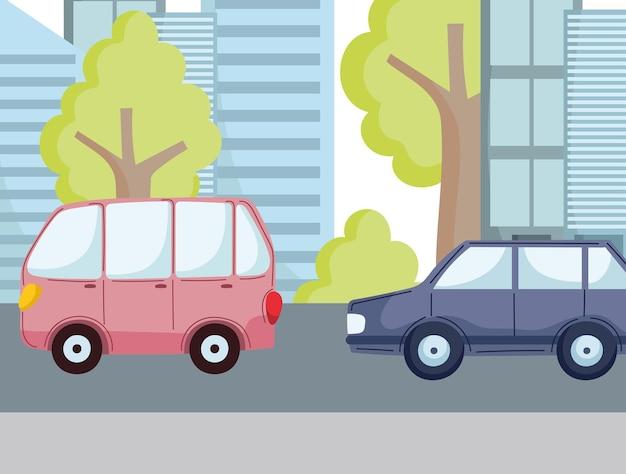 Autos auf der straße