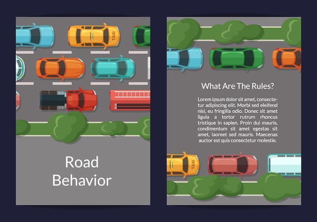 Autos auf der straßenkarte