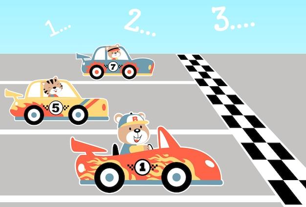 Autos, die karikatur laufen lassen