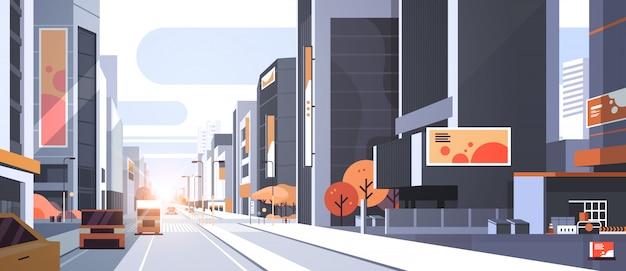 Autos fahren straßenverkehr städtischen straßen wolkenkratzer