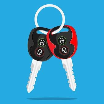 Autoschlüssel verriegeln alarm entriegeln türen roter schlüssel volle leistung
