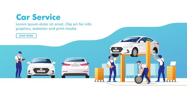 Autoservice und reparatur